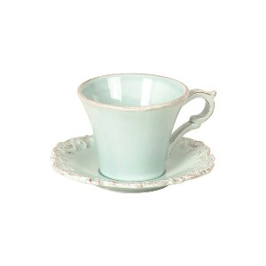 CUP & SAUCER, TIFFANY BLUE