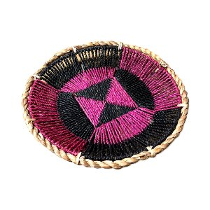 WICKER BOWL FUSCHIA