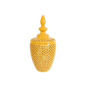 APOTHECARY JAR, YELLOW 3