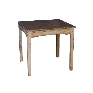 RUSTIC SQUARE TABLE, IVORY