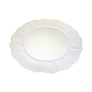WHITE RUFFLED SALAD PLATE