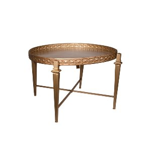 GOLD METAL COFFEE TABLE, CIRCLE