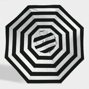 STRIPED BLACK & WHITE UMBRELLAS