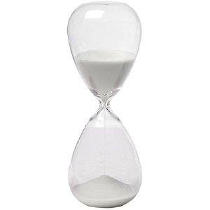 SAND HOUR GLASS, WHITE
