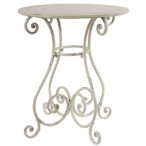 SHABBY CHIC WHITE BISTRO TABLE