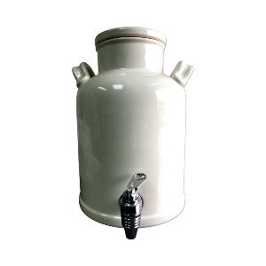 WHITE CERAMIC BEVERAGE DISPENSER