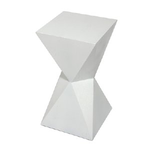 WHITE GEO SIDE TABLE