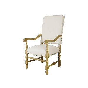 ARM CHAIR, WHITE LINEN