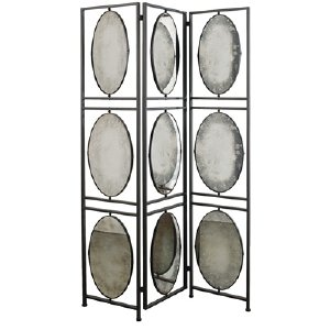 3-PANEL MIRRORED ROOM DIVIDER