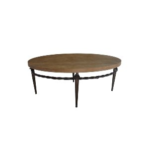 WOOD IRON COFFEE TABLE