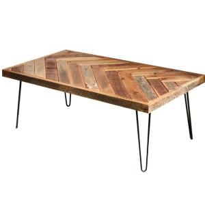 HERRINGBONE WOOD TABLE