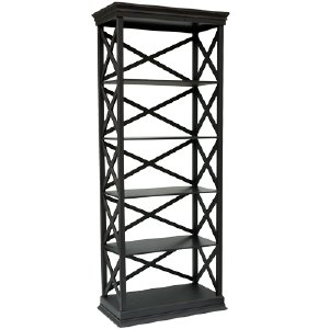 BAR SHELVING, BLACK