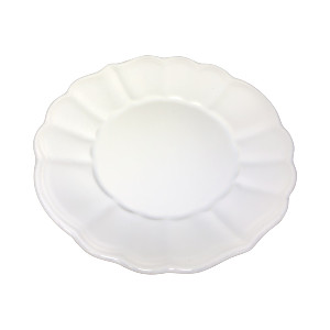 WHITE RUFFLED CHARGER PLATE