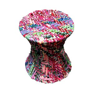 COLORFUL WOVEN STOOL