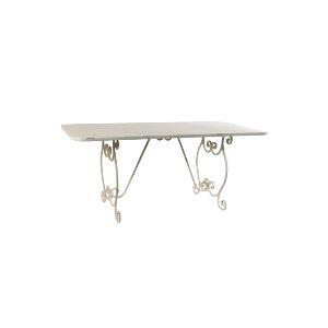IVORY METAL TABLE