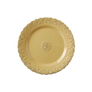 DINNER PLATE, ANITQUE YELLOW