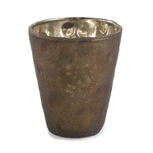MERCURY GLASS VOTIVE HOLDER, BROWN