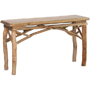 PINE LOG TABLE, NATURAL