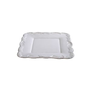 RUFFLED PLATE, WHITE