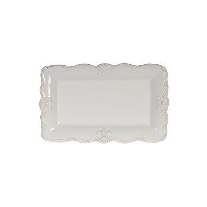 SERVING PLATTER, ANTIQUE WHITE