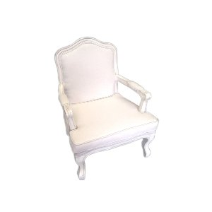 VINTAGE WHITE ARM CHAIR
