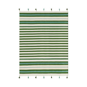 GREEN STRIPED RUG