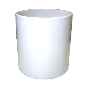 WHITE CYLINDER VASE