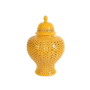 APOTHECARY JAR, YELLOW 1