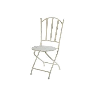 METAL CHAIRS, OFF WHITE