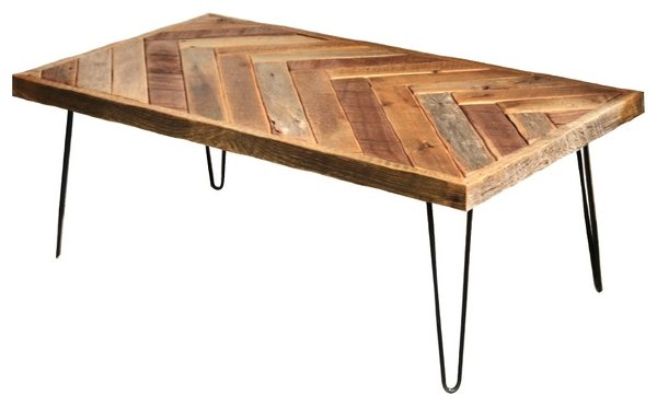 HERRINGBONE WOOD COFFEE TABLE