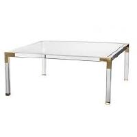ACRYLIC + GOLD COFFEE TABLE