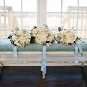 Blue Velvet Tufted Bench
