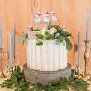 Gray Metal Cake Stand