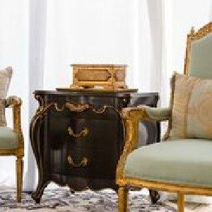 Black & Gold Cabrio End Tables