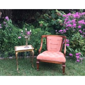 Blush - Velvet Chair