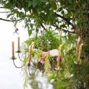 Wire Basket Candelabra