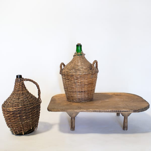 Demijohn in Wicker Basket // Medium