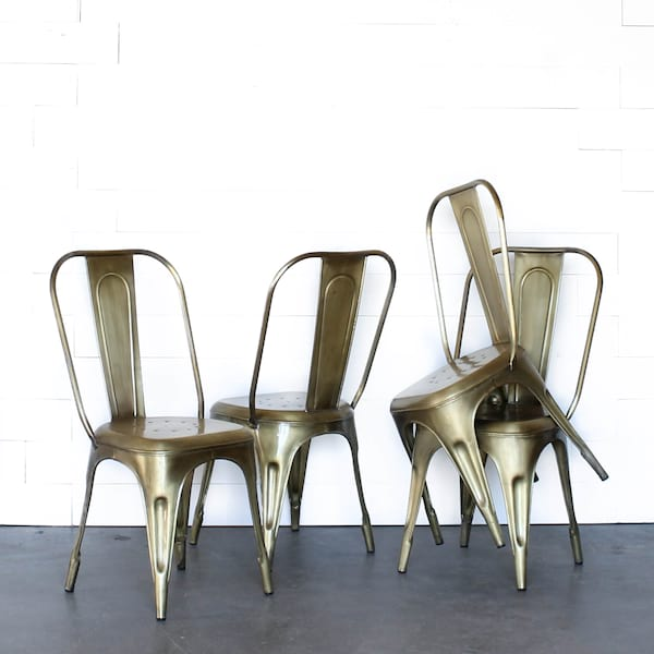 Brass Tolix Chair