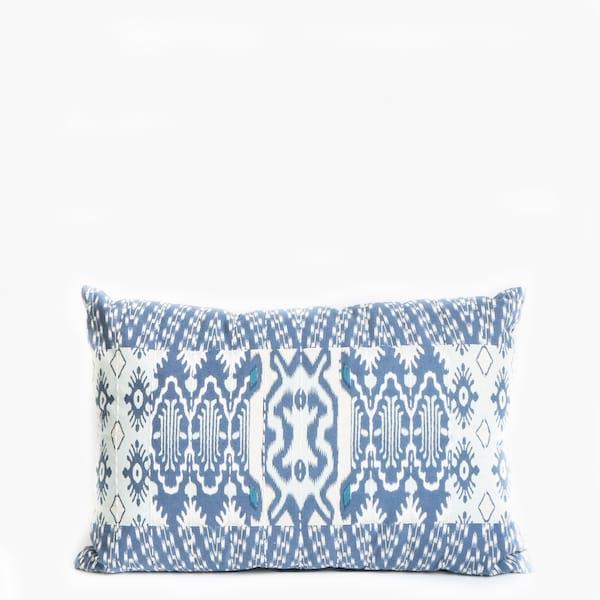 Pillow // Indigo Ikat Patchwork (sm)