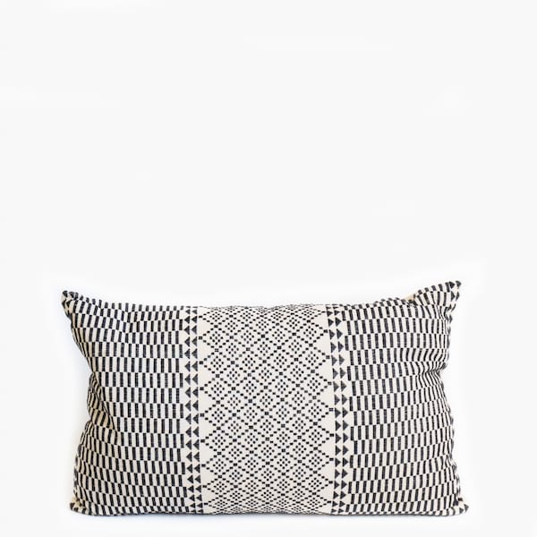 Pillow // Pakistan Embroidered Black White (sm)