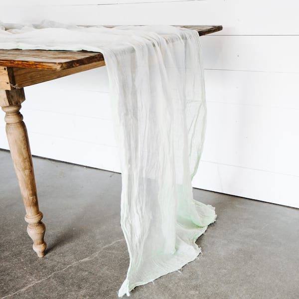 Custom Dyed Cheesecloth Runners - solid