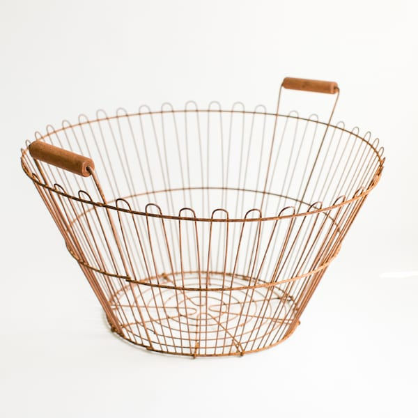 Rusty Potato Basket