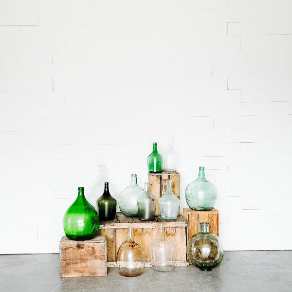 Antique Glass Demijohns