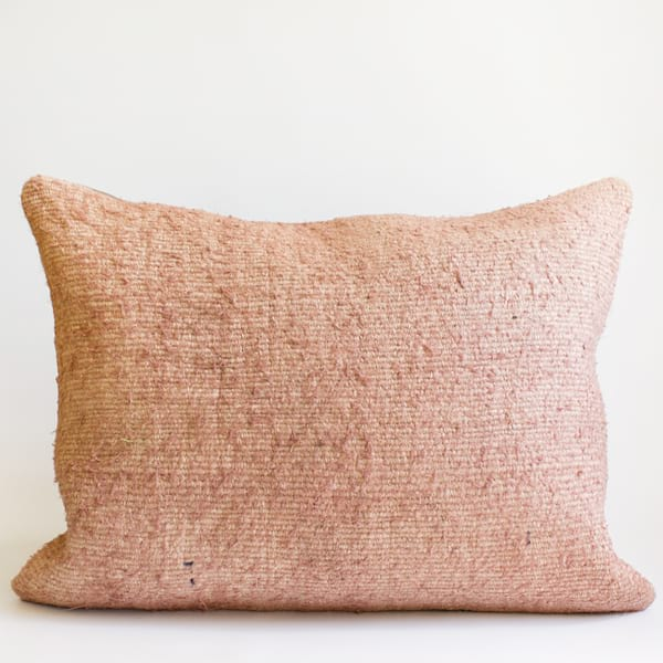 Pillow // Pink Turkish Hemp