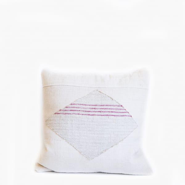 Pillow // Striped Diamond Patch Grainsack