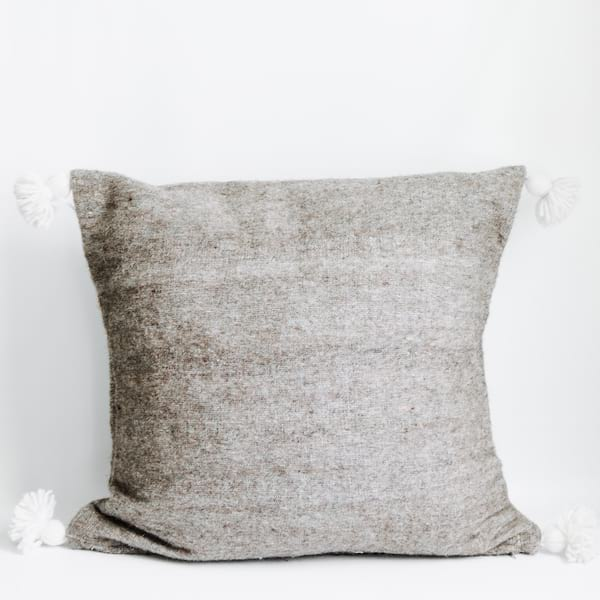 Pillow // Gray Moroccan Pom
