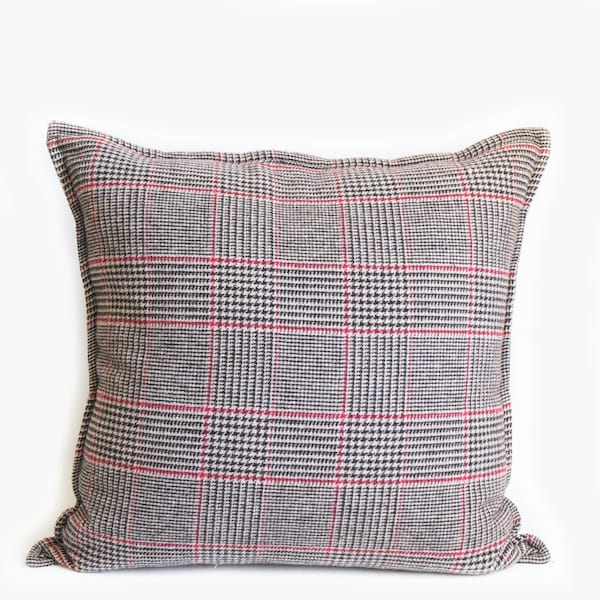 Pillow // Black + Red Plaid