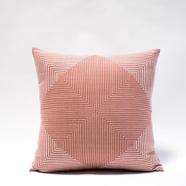 Pillow // Rust Geo Print