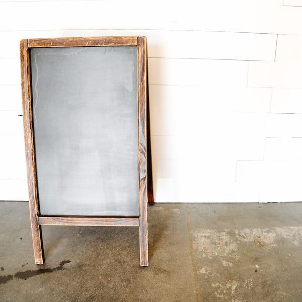 A-Frame Chalkboard - Dark