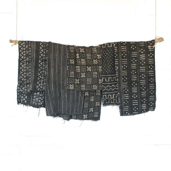 Black Mudcloth Blankets